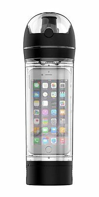 Smart Phone Water bottle for iPhone 6, 6s, Sports drink bottle in Black
