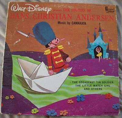 1965 Walt Disney - The Stories of Hans Christian Anderson  33 1/3 Record DQ-1276