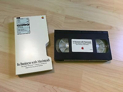 """Apple """"In Business With Macintosh"""" 1992 Promotional VHS Video - RARE"""