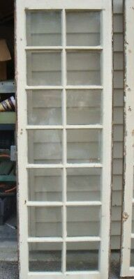 Antique Transom Window  14 lite glass panes   Shabby Cottage Chic Cabinet Door