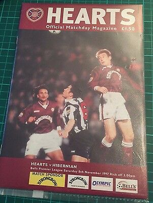 Hearts v Hibernian 8 November 1997 - (2-0 Hearts Win)