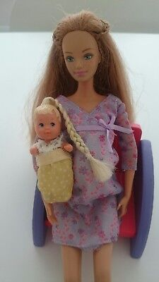 vintage happy family barbie doll BABY MIDGES  krissy baby only barbie doll.