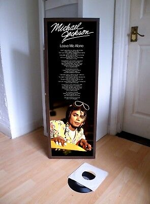 Michael Jackson  Leave Me Alone Promotional Poster Lyric Sheet,beat It,thriller