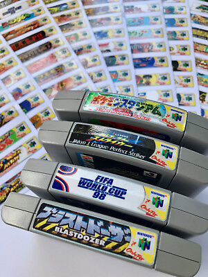 Japan Nintendo 64 N64 Sticker End Labels -For All 196 Custom Japan Game Stickers