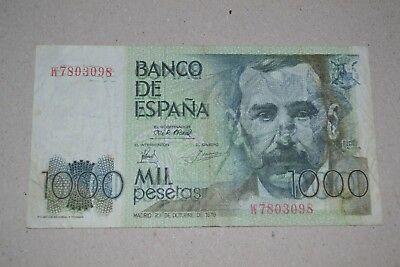 Billete de 1.000 pts con error de doble impresión