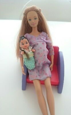vintage happy family Baby barbie doll MIDGES  krissy BABY ONLY  baby doll.