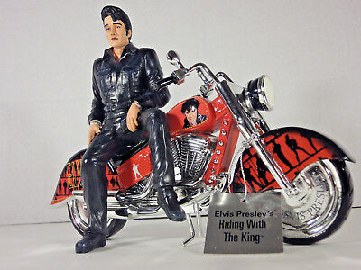 "ELVIS 9-inch Figurine ""Riding with the King"" Motorcycle LIMITED & NUMBERED"