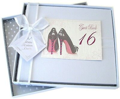 16th Birthday, Guest Book, Black Shoes
