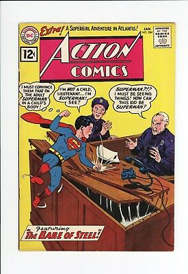 Action Comics #284 - Nice Grade - Supergirl, Superman - 1962