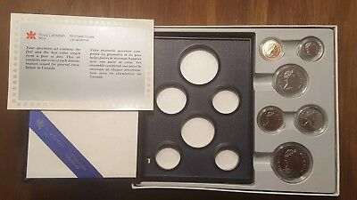 1987 Royal Canadian Mint Proof Set w/ original box and display case