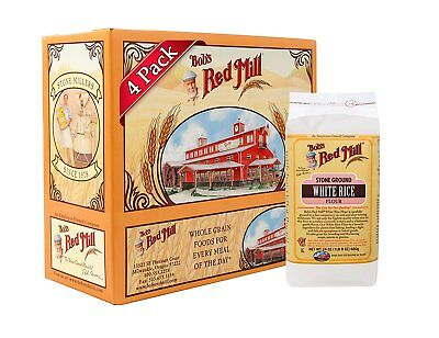 Bobs Red Mill Gluten Free White Rice Flour, 24-ounce Pack of 4