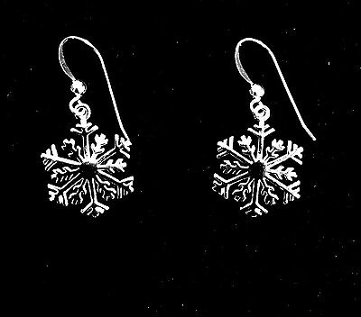 Holiday Special Sterling Silver Snowflake Earrings Christmas Savings 3 for $53