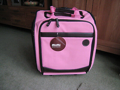 Mimi Wheeled Tote Craft Bag. Medium size Pink. NWT not original packaging