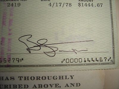 Hand Signed Check By Bernie Taurin-Elton John's C0-Song Writer
