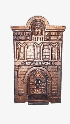 "Antique Cast Iron original ""CITY BANK with TELLER"" by H.L. Judd c1900 book $1200"