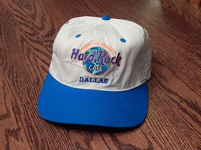 Vintage HARD ROCK CAFE Dallas Texas HAT Save the Planet snapback cap 100% cotton