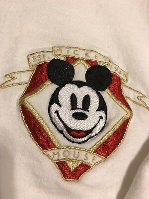 Disney Mickey Mouse Cardigan XL Vintage 80's Embroidered **Nice**