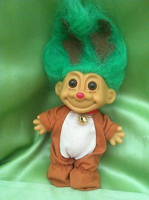 Troll Doll Russ Christmas Rudolph Red Nose Reindeer Toy Collectable