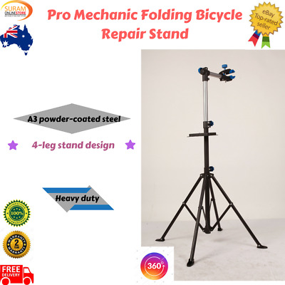 NEW Pro Mechanic Folding Bicycle Repair Stand with 360degree rotation for access