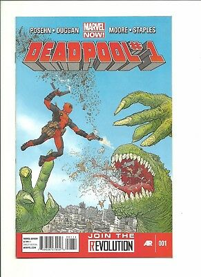 Deadpool #1 1st print 2012 vs zombie Presidents high grade $1 start!