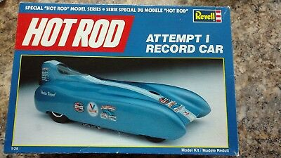 Revell 1/25 Hot Rod Attempt 1 Record Car Missing Decals.