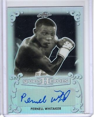 2017 Leaf Sports Heroes PERNELL WHITAKER base auto autograph BA-PW1