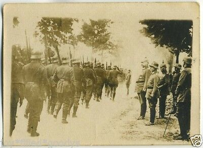Ww1 Inspection Of German Troops By German Officers With Spike Helmets Photo