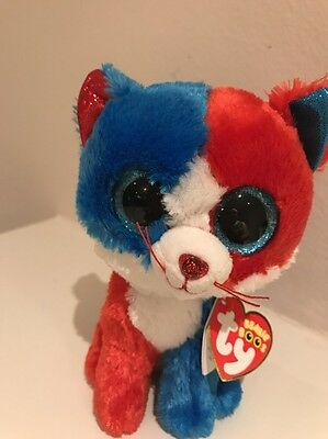 TY Beanie Boo Firecracker 4th Of July Patriotic Cat 6