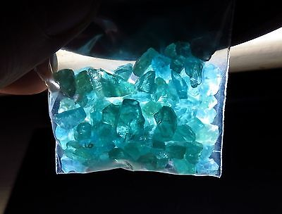 25g PARAIBA BLUE APATITE rough NATURAL CRYSTAL GEMSTONE LOTS