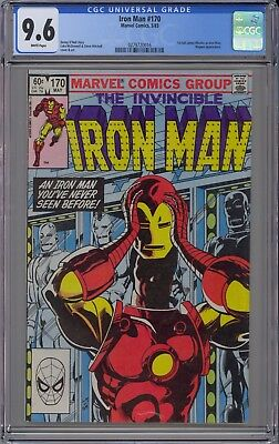 Invincible Iron Man #170 CGC 9.6 NM+ Wp 1st Jim Rhodes Iron Man 1983 NO RESERVE!