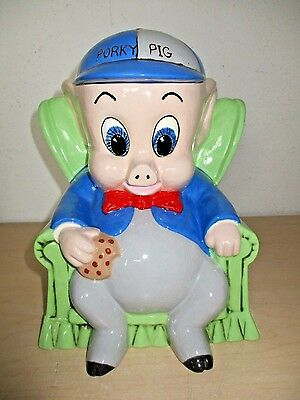 Vintage 1975 *porky Pig* Cookie Jar. Warner Bros. Inc. Nos.