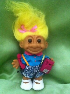 TROLL RUSS DOLL TEENAGE TELEPHONE GIRL PHONE w STICKER VINTAGE RARE COLLECTABLE