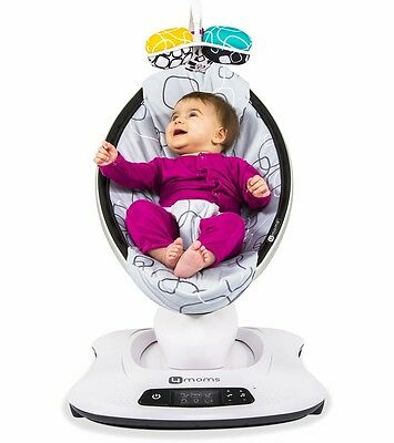 4Moms Mamaroo 4 Baby Bouncer MP3 Bluetooth Motion Infant Swing Portable Rocker