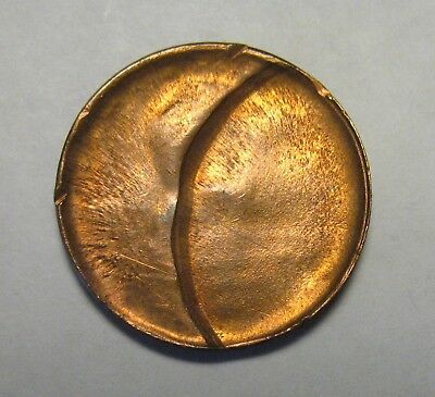Struck Thru Capped Die With Indent Lincoln Cent