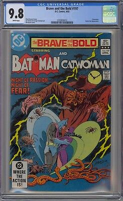 Brave and the Bold #197 CGC 9.8 NM/MT Wp DC 1982 Batman & Catwoman NO RESERVE!!!