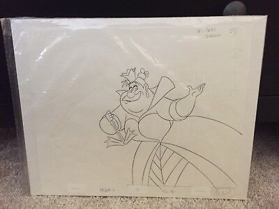 New Van Eaton Original Production Drawing Disney TVCommercial Alice Queen Hearts