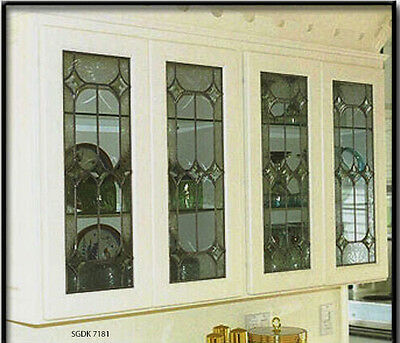 Leaded glass Kitchen Cabinet inserts  Handcrafted & Made to order Free Shipping