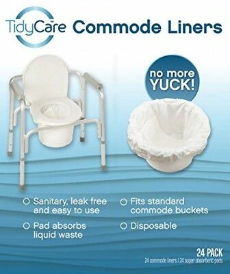 TidyCare Commode Liners And Ndash; Convenience Pack XL - Bedside Commode Liners