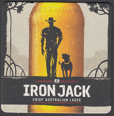 """2 x """"IRON JACK""""  LAGER. BEER COASTERS"""