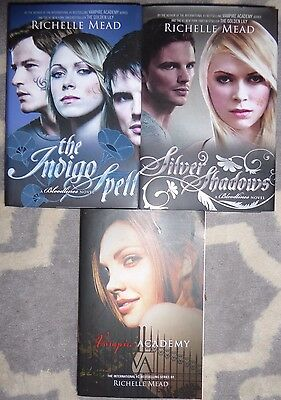 Richelle Mead lot HC Bloodlines Indigo Spell, Silver Shadow & Vampire Academy SC