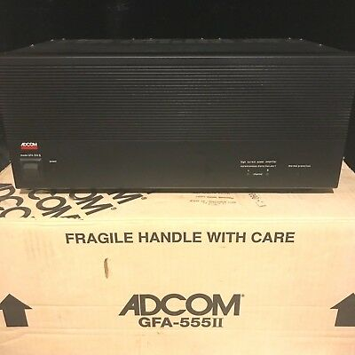 ADCOM GFA 555 II AUDIOPHILE AMPLIFIER AMP with box and manuals