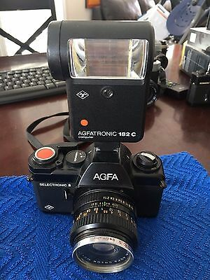 AGFA SELECTRONIC 2 SLR COLOR 50MM 1:1.4 LENS  Ceneiplan Filter and Flash