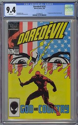 Daredevil #232 CGC 9.4 NM Wp 1st Nuke (Frank Simpson) Marvel 1986 NO RESERVE!!
