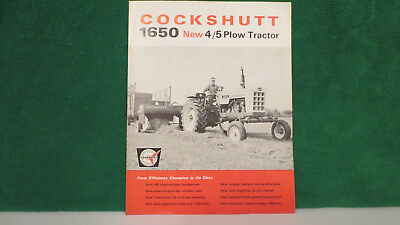 Cockshutt Tractor brochure on New Model 1650 4/5 Plow Tractor from 1965, nice.