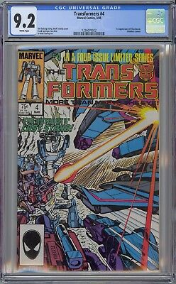 Transformers #4 CGC 9.2 NM- Wp 1st Shockwave App Marvel Comics 1985 NO RESERVE!!