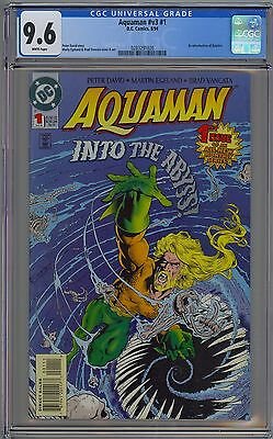Aquaman #1 Volume 3 CGC 9.6 NM+ Wp DC Comics 1994 David JLA Momoa NO RESERVE!!!