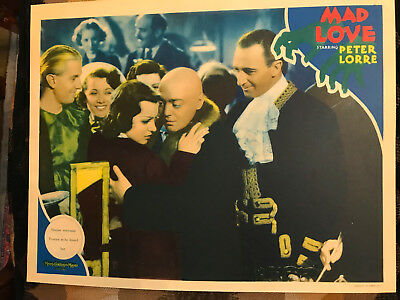 Mmad Love 1935 MGM horror lobby card Peter Lorre Valerie Hobson