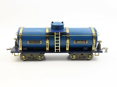 American Flyer Prewar Wide Standard Gauge 4010 Blue Variation Tank Car VERY NICE