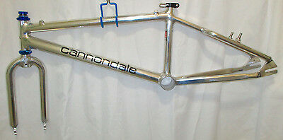 """early 90's rare nos midschool bmx Cannondale USA 20"""" pro XL frame fork gt"""