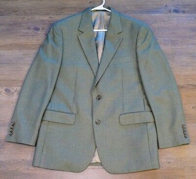 LAUREN BY RALPH LAUREN Brown Patterened Blazer Sports Coat Size 40R Two Button